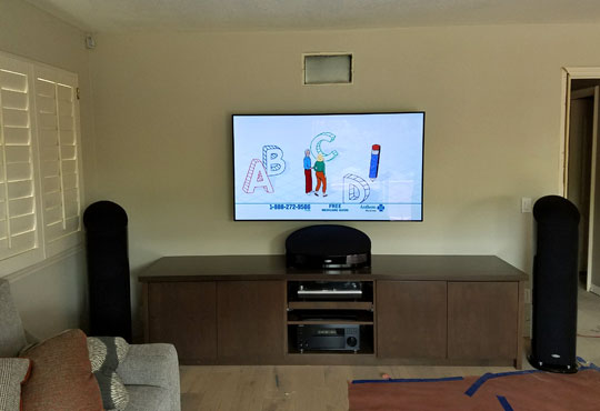 Home Entertainment System in Yorba Linda, CA